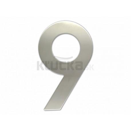 """Číslica """"9"""" fasádna 200mm NEREZ S"""