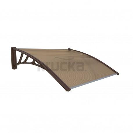 COPOLINE strieška nad dvere hnedá 120x80cm