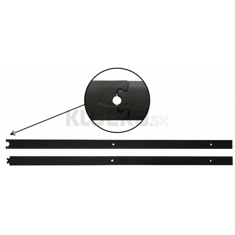 Koľajnica RETRO čierna mat ESO 2x1 m